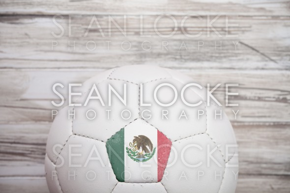 Soccer: Mexican Soccer Ball Background For International Competition Stock Photography Content by Sean Locke