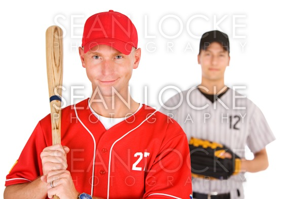 Baseball: Player From Opposing Teams Stock Photography Content by Sean Locke