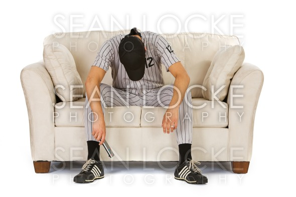 Baseball: Fan Upset His Team Has Lost Stock Photography Content by Sean Locke