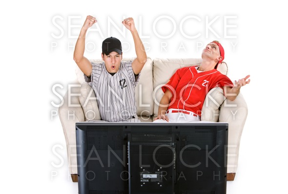 Baseball: Man Excitedly Cheering For Team Stock Photography Content by Sean Locke