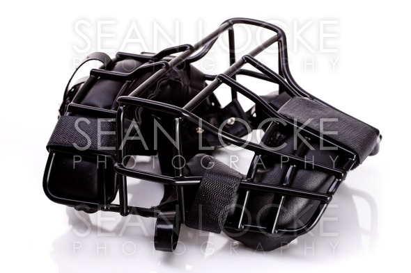 Baseball: Umpire Mask Lying Down Stock Photography Content by Sean Locke