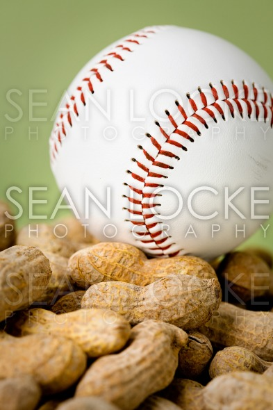 Baseball: Ball Atop Pile of Peanuts Stock Photography Content by Sean Locke