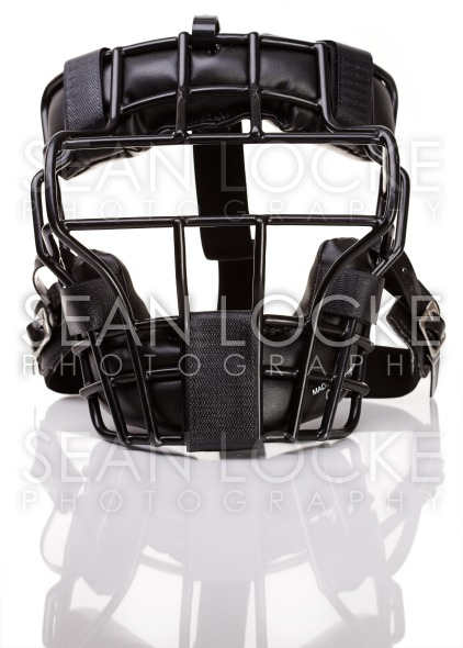 Baseball: Umpire's Mask Isolated Stock Photography Content by Sean Locke