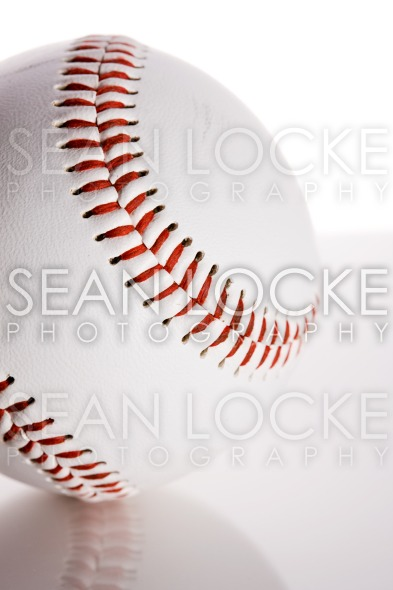 Baseball: Ball on Reflective Surface Stock Photography Content by Sean Locke