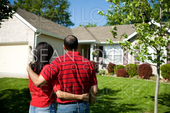 Home: Owners Admiring their Home Stock Photography Content by Sean Locke