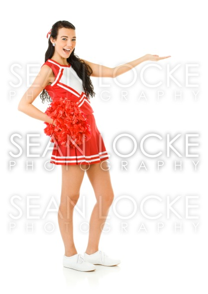 Cheerleader: Gesturing to the Side Stock Photography Content by Sean Locke