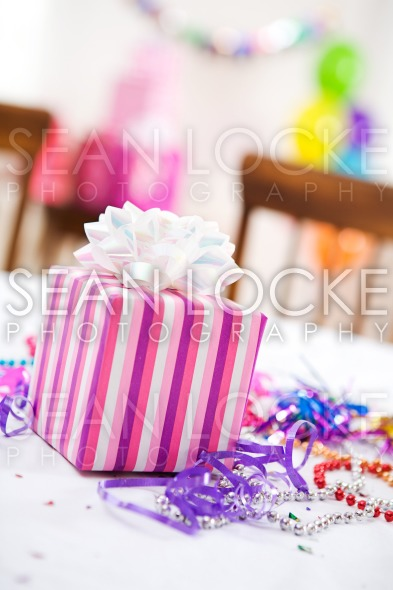 Birthday: Present At Girl's Birthday Party Stock Photography Content by Sean Locke