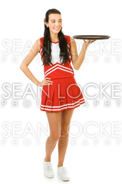 Cheerleader: Looking at Empty Restaurant Tray Stock Photography Content by Sean Locke