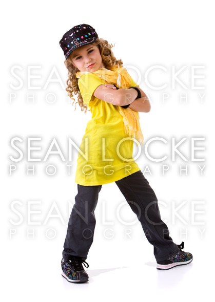 Dance: Little Girl Hip Hop Dancer Stock Photography Content by Sean Locke