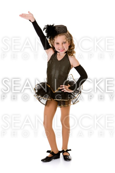 Dance: Girl Tap Dancer in Fancy Costume Stock Photography Content by Sean Locke