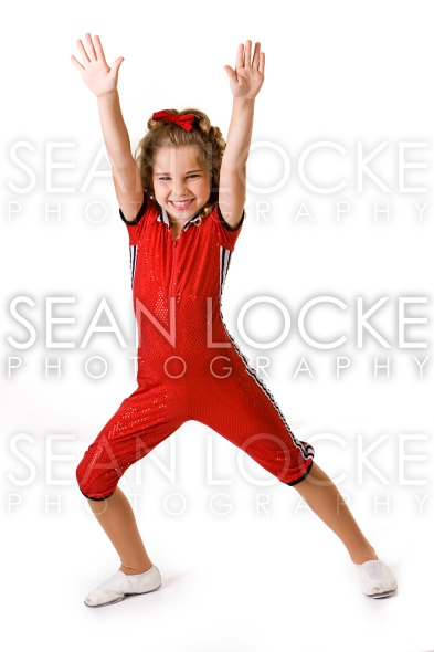Dance: Little Girl In Acrobatics Costume Stock Photography Content by Sean Locke