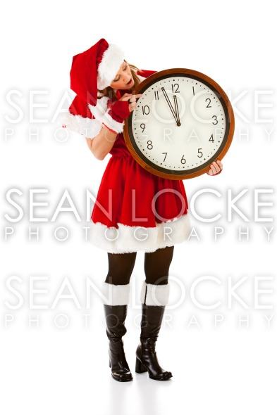 Christmas: Watching Clock For Christmas Stock Photography Content by Sean Locke