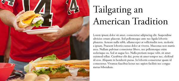 Tailgate party article example.