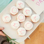 Mother's Day: Holding a Plate of Cupcakes for Mom