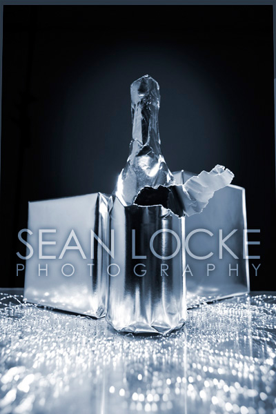 Stock Photo: Champagne Bottle
