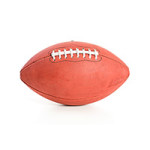 Football: Isolated Side View Of Football