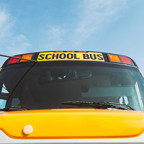 Series with pre-teen students and a school bus.  Ready for back to school.
