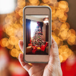 Christmas: Photographing Tree On A Cell Phone